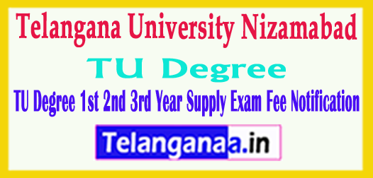 TU Degree 1st 2nd 3rd Year Supply Exam Fee Notification 2018