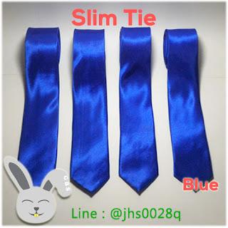 jual dasi slim biru murah kerja kantor