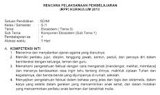 RPP Kelas 5 Tema 5 Kurikulum 2013 Revisi 2018