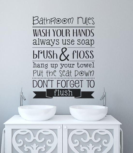 20 Desain Stiker Dinding Cantik Untuk Kamar Mandi.