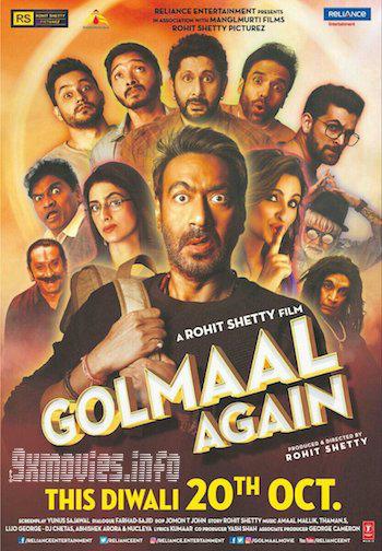 Golmaal Again 2017 Hindi 480p BluRay 400MB