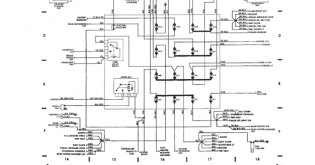 Free Auto Wiring Diagram: 1987 Dodge Daytona Shelby Z Fuse Block