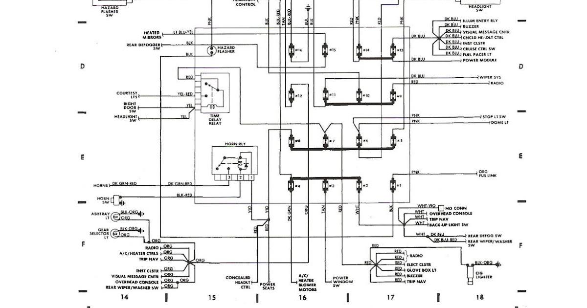 Free Auto Wiring Diagram: 1987 Dodge Daytona Shelby Z Fuse