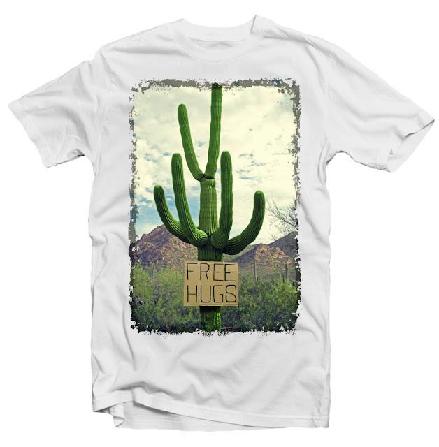 free hugs cactus tshirt factory