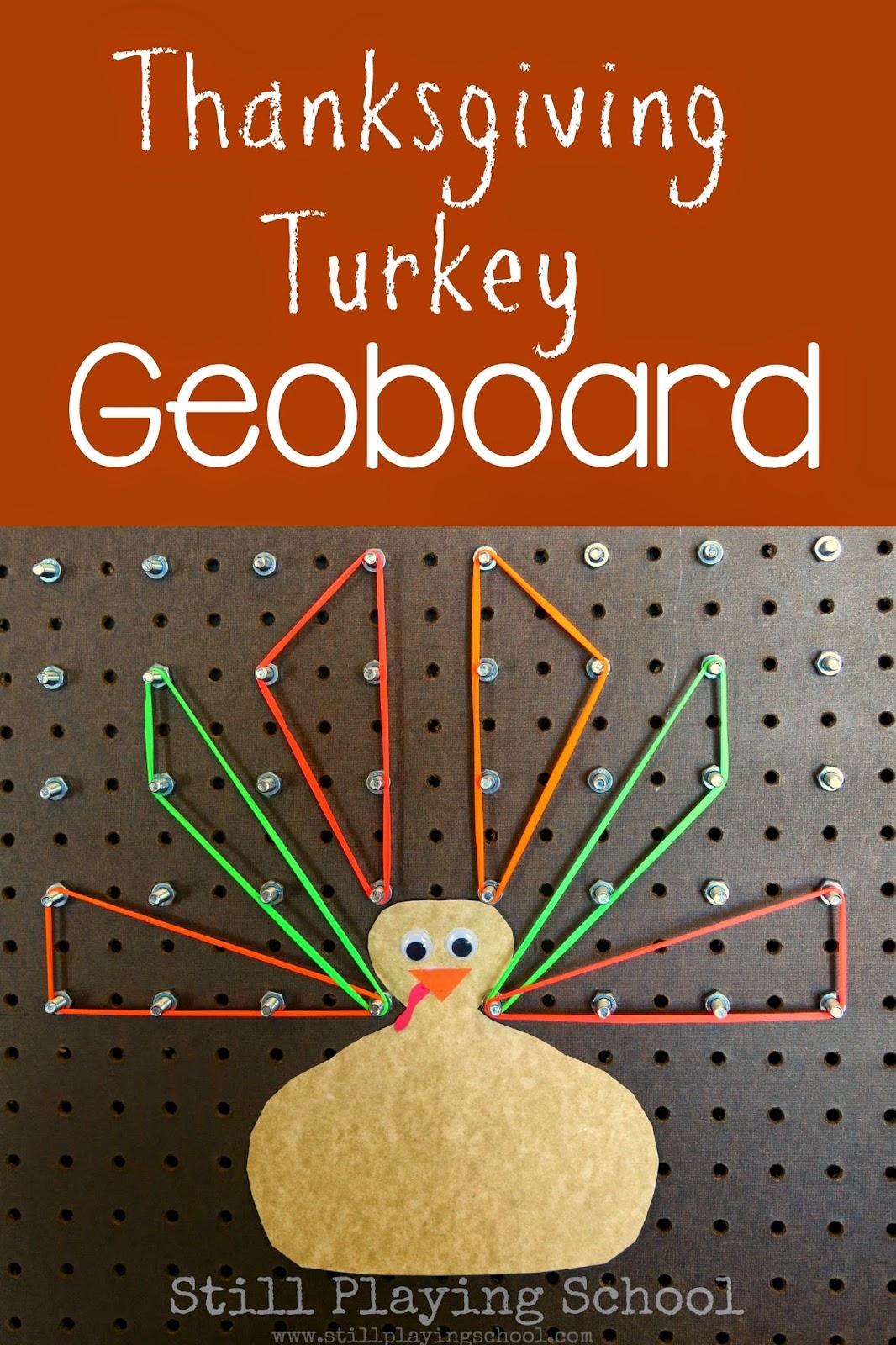 Thanksgiving Turkey Geoboard