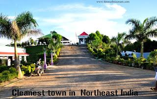 Ccleanest town (urban) in Northeastern region