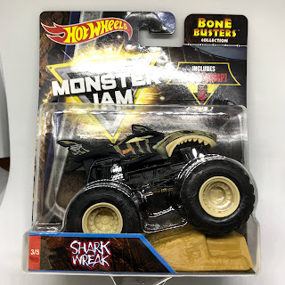 Julian S Hot Wheels Blog Shark Wreak Monster Jam Truck 2018 Bone Busters Collection