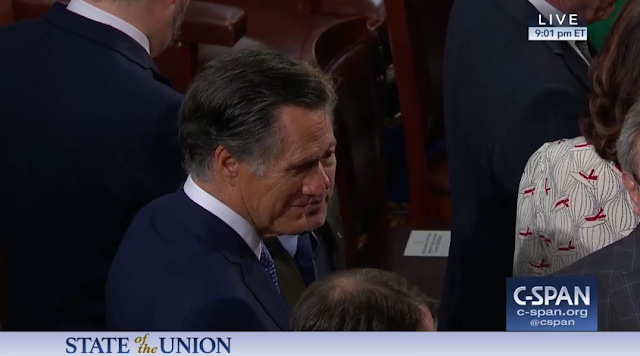 State of the Union 2019 Mitt Romney senator face merge morph