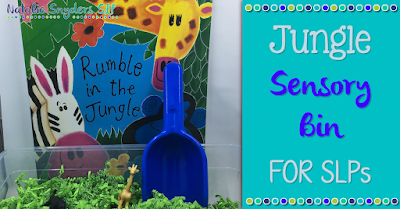 Jungle Themed Sensory Bin for SLPs
