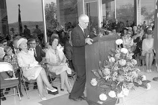 Howard Butt at Dedication Ceremony, Butt-Holdsworth Memorial Library, Kerrville
