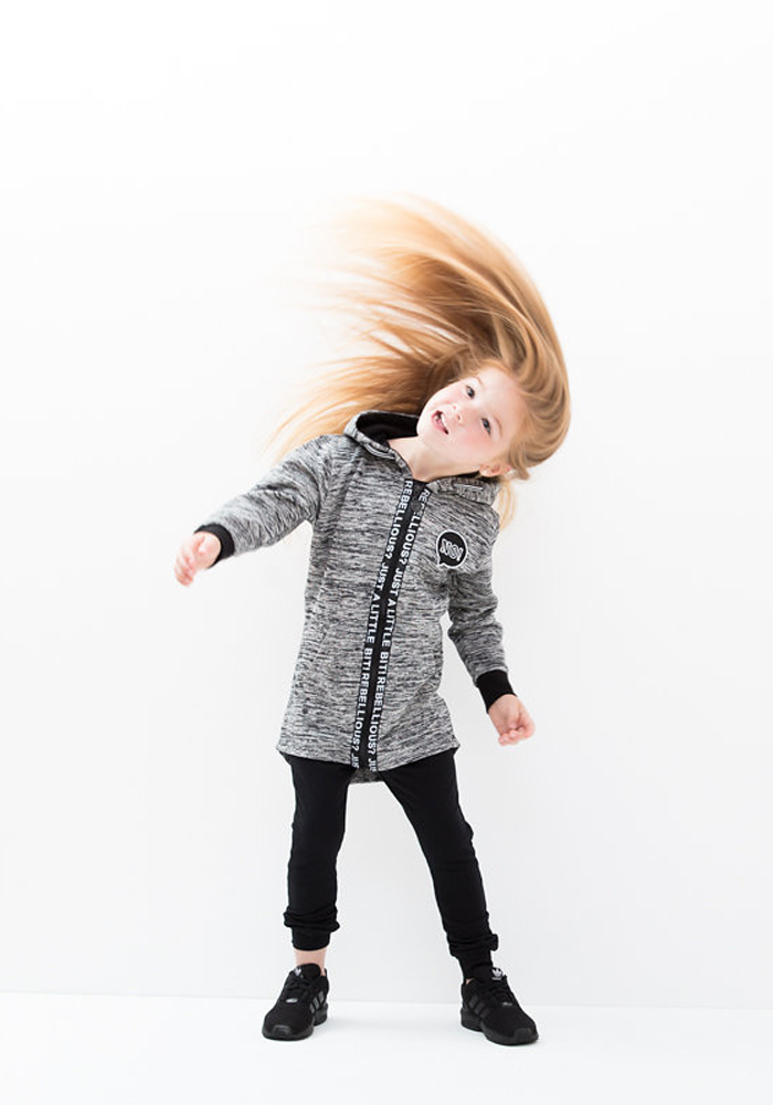 Lucky No 7 Autumn 2016 kidswear collection - Rebellious cardigan