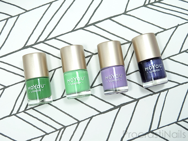 MoYou London Fresh Basil, Winter Green, Sweet Wisteria and Last Dragon