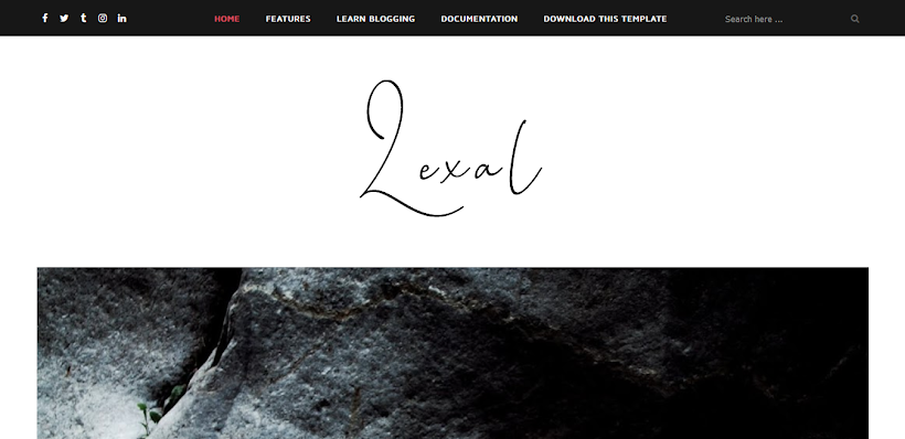 Lexel Free Blogger Template