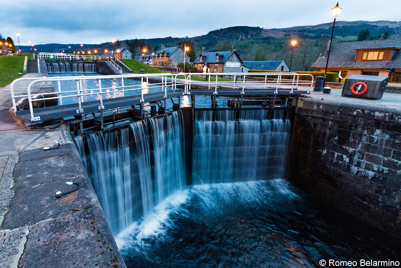 Fort Augustus Locks Scottish Highlands Barge Cruise