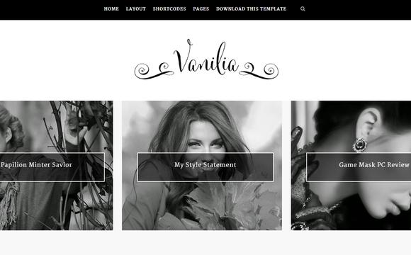 Vanilia Responsive Blogger Template Free Download