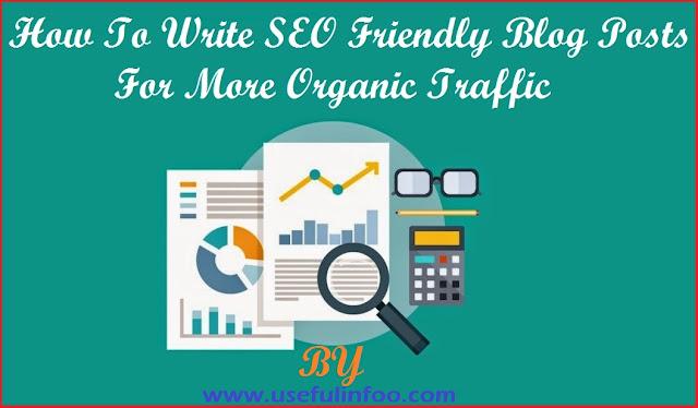 Blog organic traffic generation
