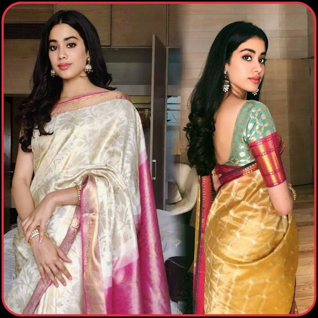 Janhvi Kapoor Traditional Saree