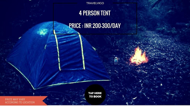 4 person tent for rent in Bangalore