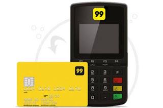 maquineta de cartão de cartão 99 taxi