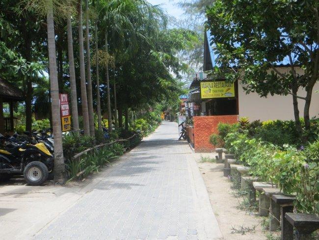Пешеходная улица на острове Тао