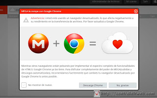 Chrome con Mega