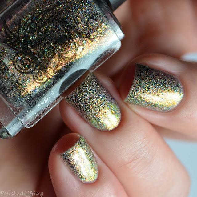 green color shifting nail polish
