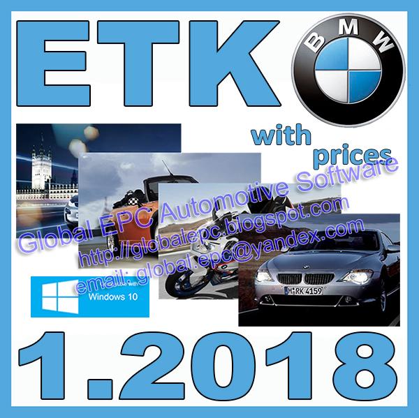 GLOBAL EPC AUTOMOTIVE SOFTWARE: ETK 01.2018 BMW, MINI AND