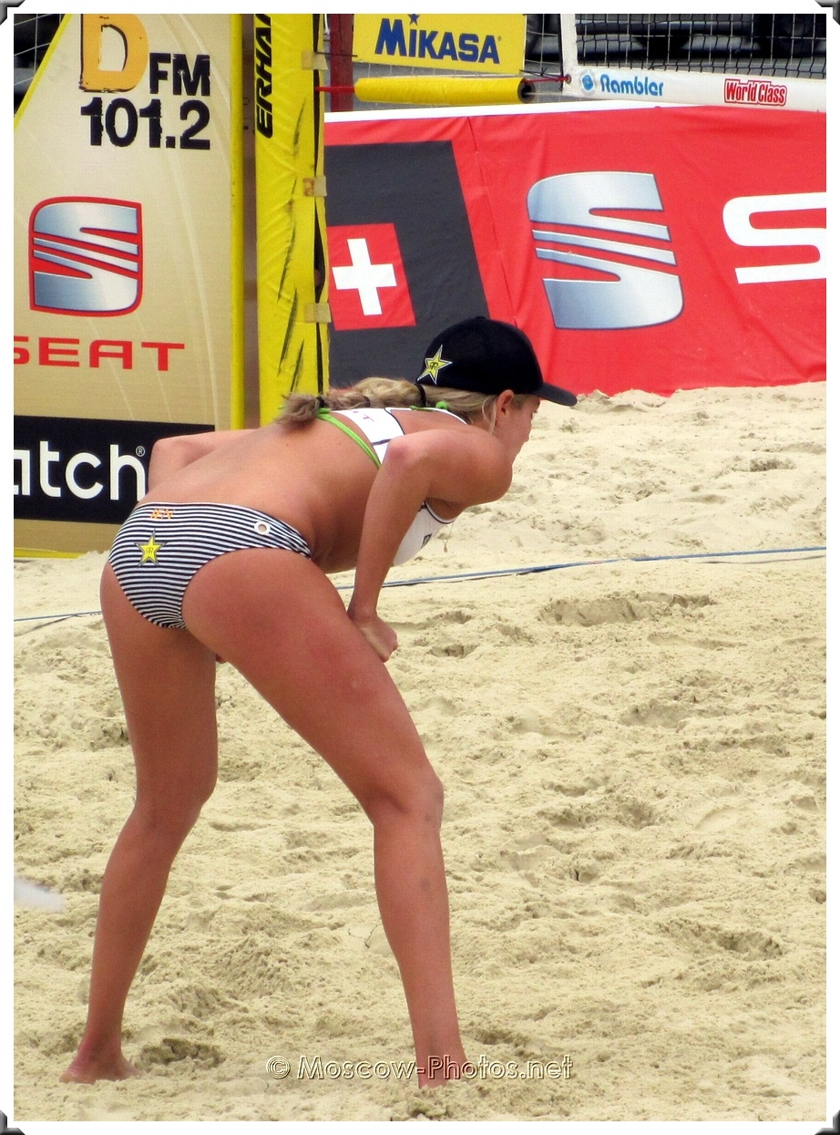 Defense of beach volleyball player Jennifer Kessy