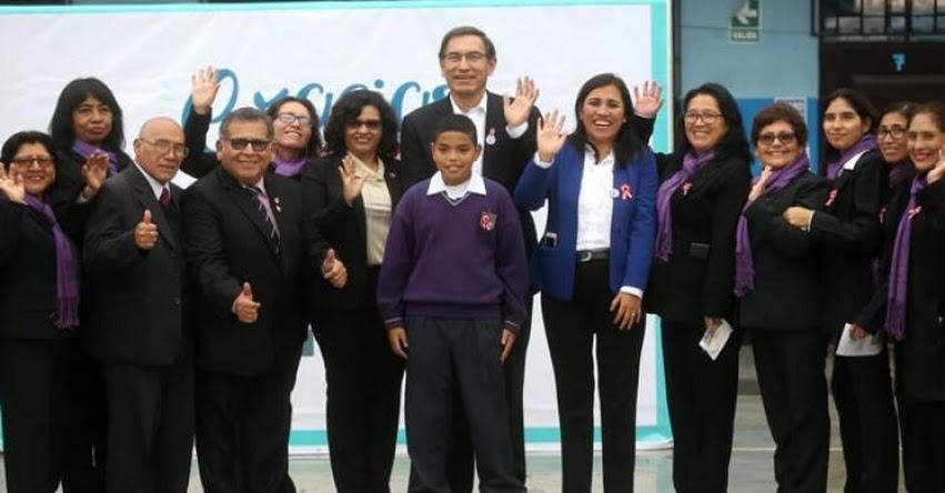 MINEDU: Presidente Martín Vizcarra y Ministra de Educación visitan colegio de Breña - www.minedu.gob.pe
