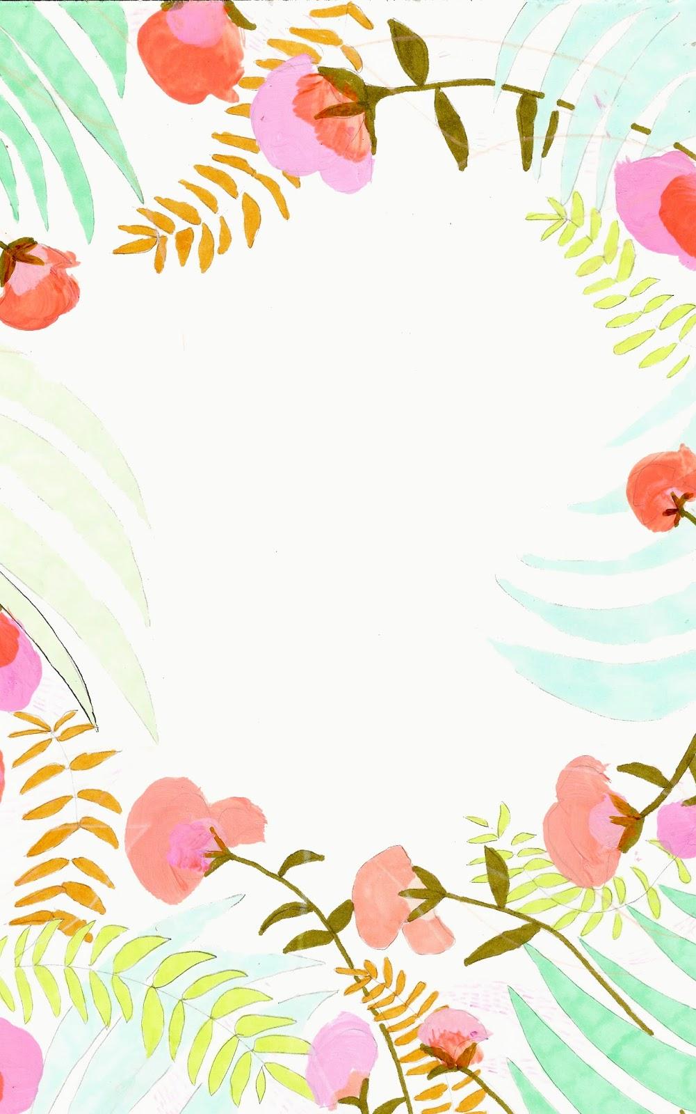 Cute Pintrest Quote Wallpapers 絵の具で描かれた雰囲気のアートなお花の壁紙 【お花フラワー柄】かわいい スマホ用iphoneホーム画面・待ち受け