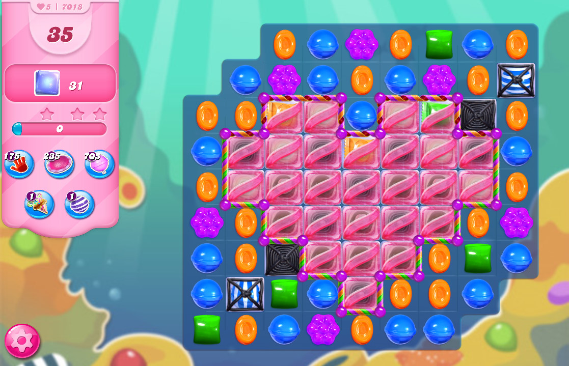 Candy Crush Saga level 7018