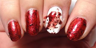 Blood Splatter Nail