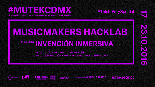 Convocatoria. MUTEK MX. Festival Internacional de Creatividad  Digital