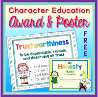 Character Education Award and Poster FREE