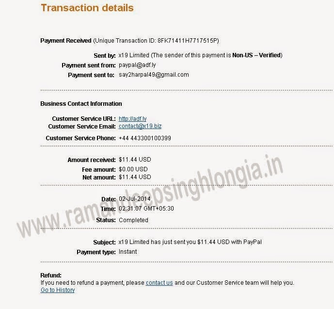 Adfly Payment Proof