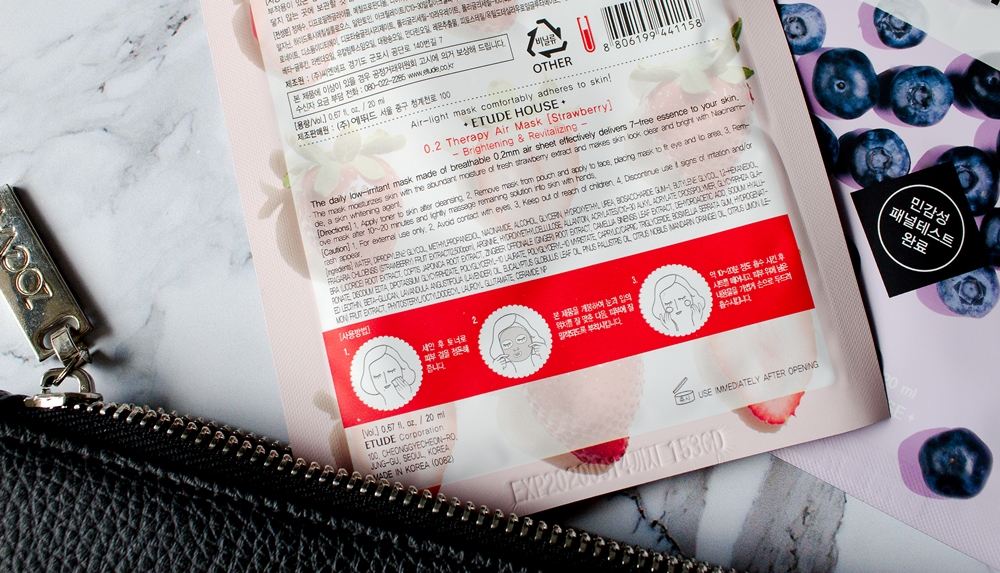 Z wizytą w Azji | Owocowe maseczki w płachcie od Etude House