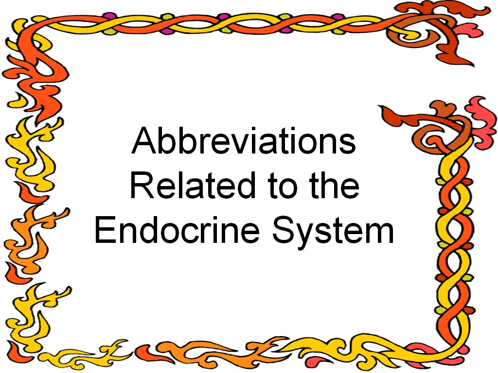 Student Survive 2 Thrive Endocrine System Common
