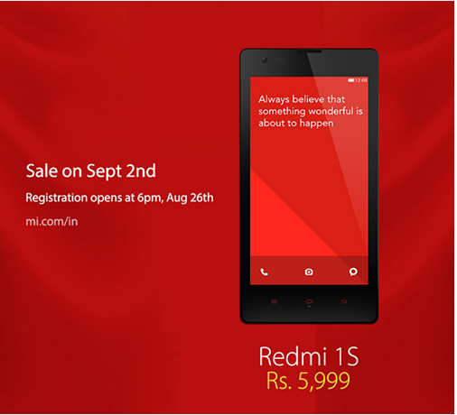 Xiaomi Redmi 1s specifications,Redmi 1s price in India.