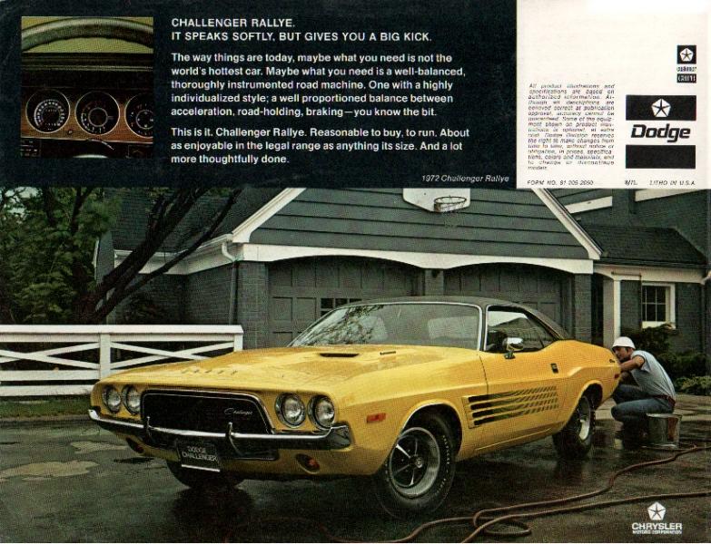 Autom 243 Veis Do Passado E Do Presente Dodge Challenger 1970