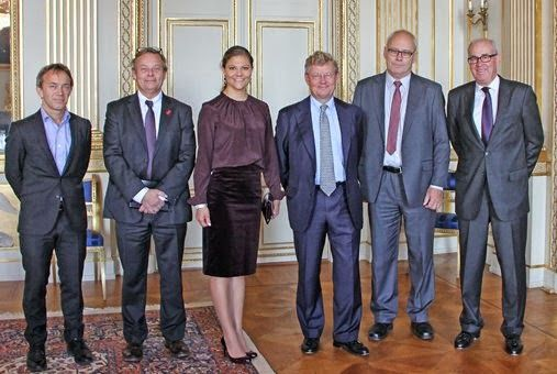 Crown Princess Victoria  received Professor Torkel Klingberg in Prince Bertil's apartments at the Royal Palace