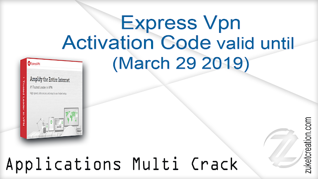 Express Vpn Activation Code (valid until March 29, 2019)