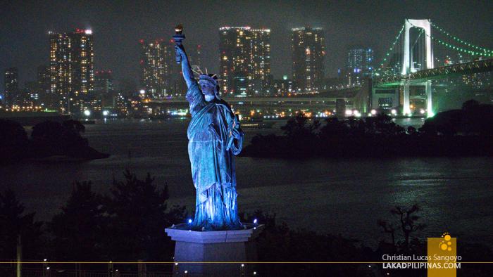 Tokyo Odaiba Statue of Liberty Evening
