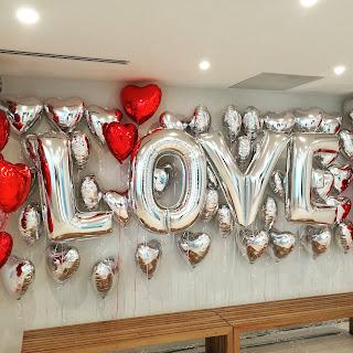 """I Love YOU"" Valentine's Day Display"