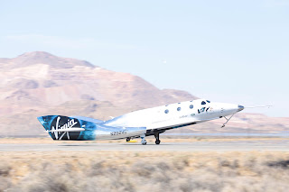 VSS Unity landing after 13th test flight