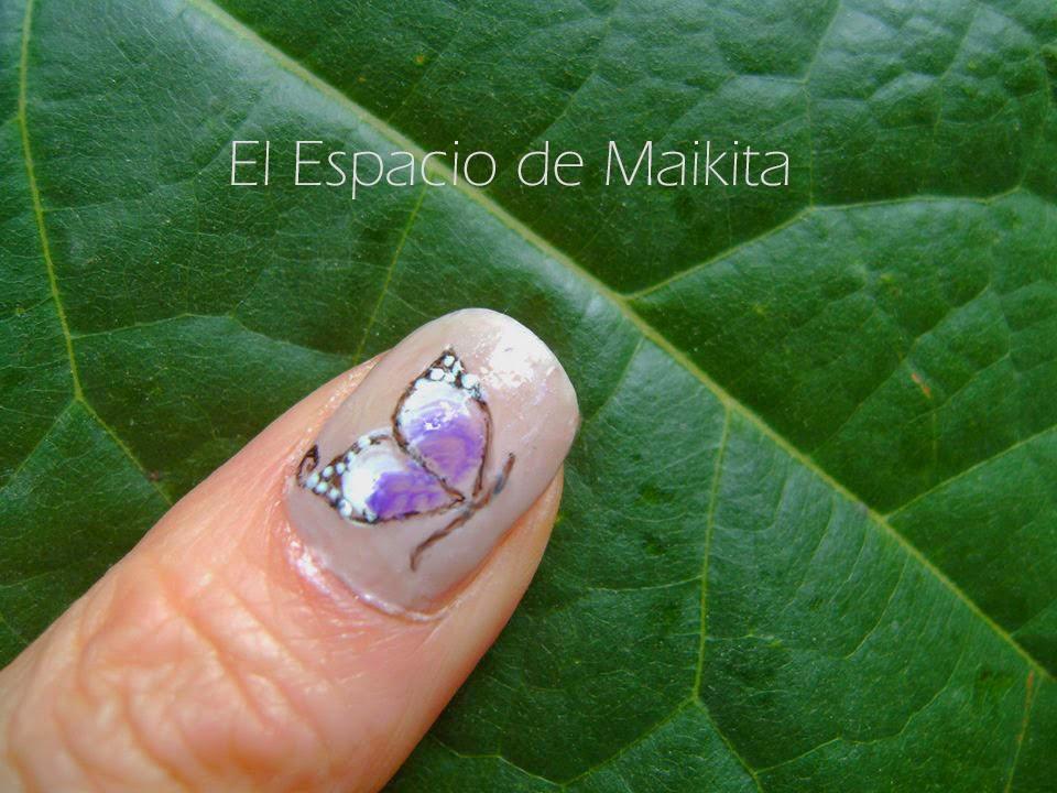 Lujoso Mariposa Diseño De Uñas Fotos Foto - Ideas Para Esmaltes ...