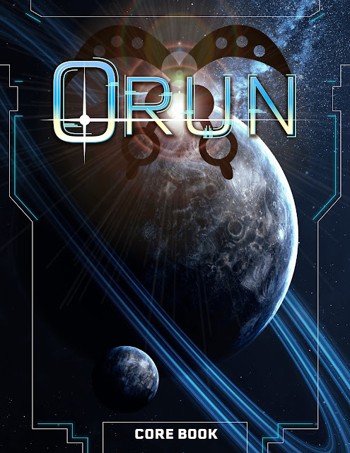 A book showing planets and space with the text ORUN CORE BOOK.