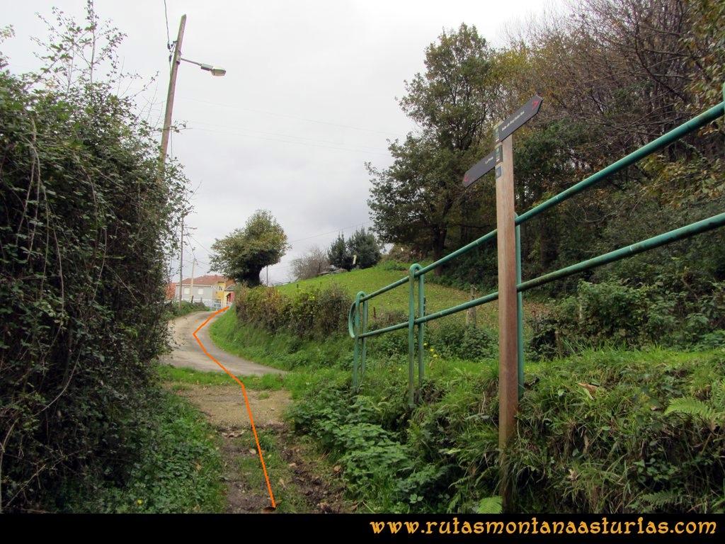 Ruta Olloniego Escobín: Sendero en Casares