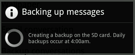 Manual Backup conversations in Whats App