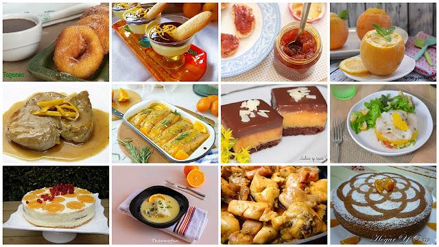 Recetas dulces y saladas con naranja. Julia y sus recetas