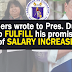Teachers to Duterte: Increase our Salary as Promised